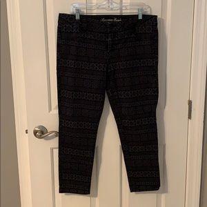 Printed knit jegging pants